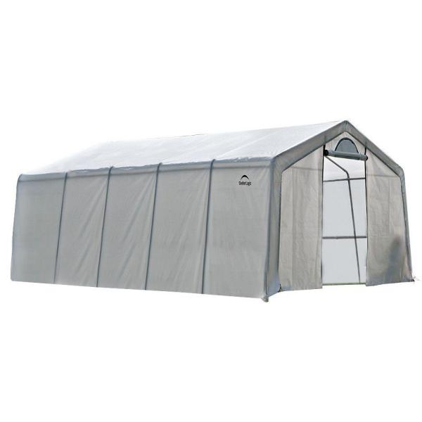 12 ft. W x 20 ft. D GrowIt Heavy-Duty, Walk-Thru Greenhouse with Patent-Pending Stabilizers and Easy-Slide Cross Rails