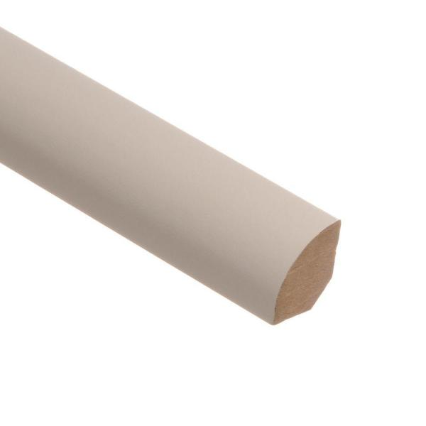 Recoatable White 5/8 in. Thick x 3/4 in. Wide x 94 in. Length Laminate Quarter Round Molding