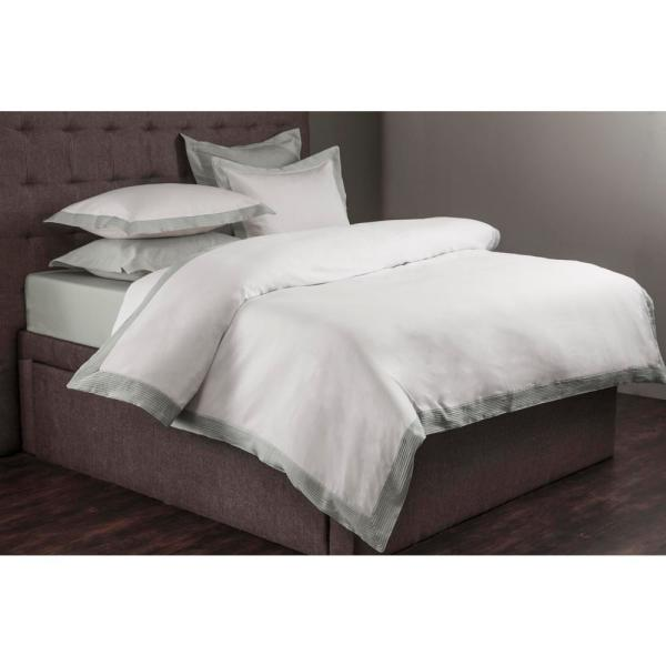 Textrade International Limited Morgan White and Gray Queen Duvet Set DS_00103
