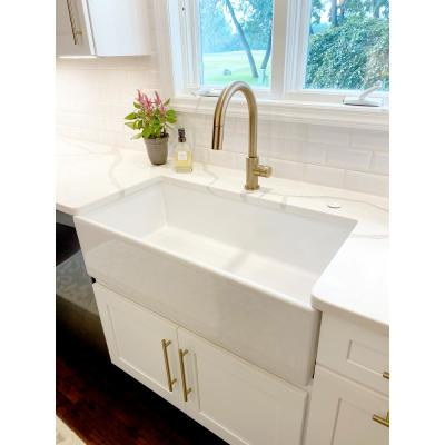 Inspire Farmhouse Apron-Front Fireclay 36 in. Single Bowl Kitchen Sink in Crisp White