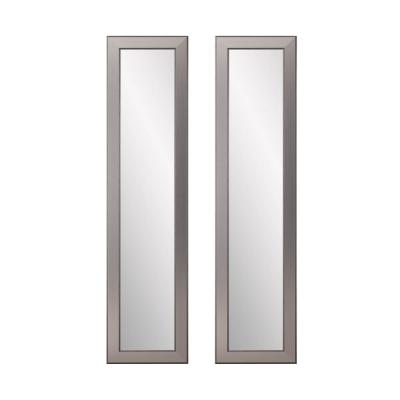 16 in. x 71 in. 2-Piece Mod Euro Silver Full Length Mirror Set