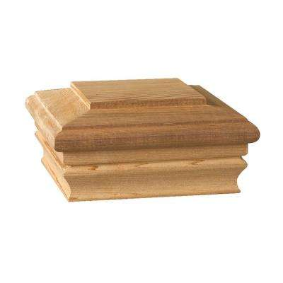 Newbury 6 in. x 6 in. Pressure-Treated Pine Classic Flat Top Post Cap