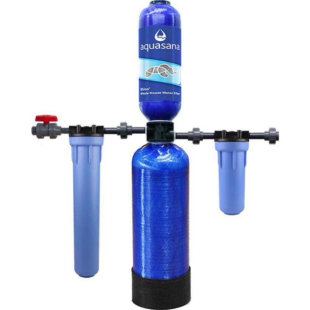 Rhino Series 4-Stage 600,000 Gal. Whole House Water Dispenser Filtration System