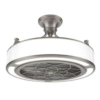 Anderson 22 in. LED Indoor/Outdoor Bronze Ceiling Fan with Remote Control works with Google and Alexa