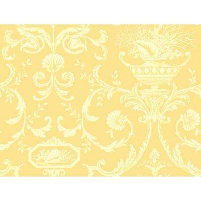 york wallcoverings pre pasted yellow wallpaper home decor