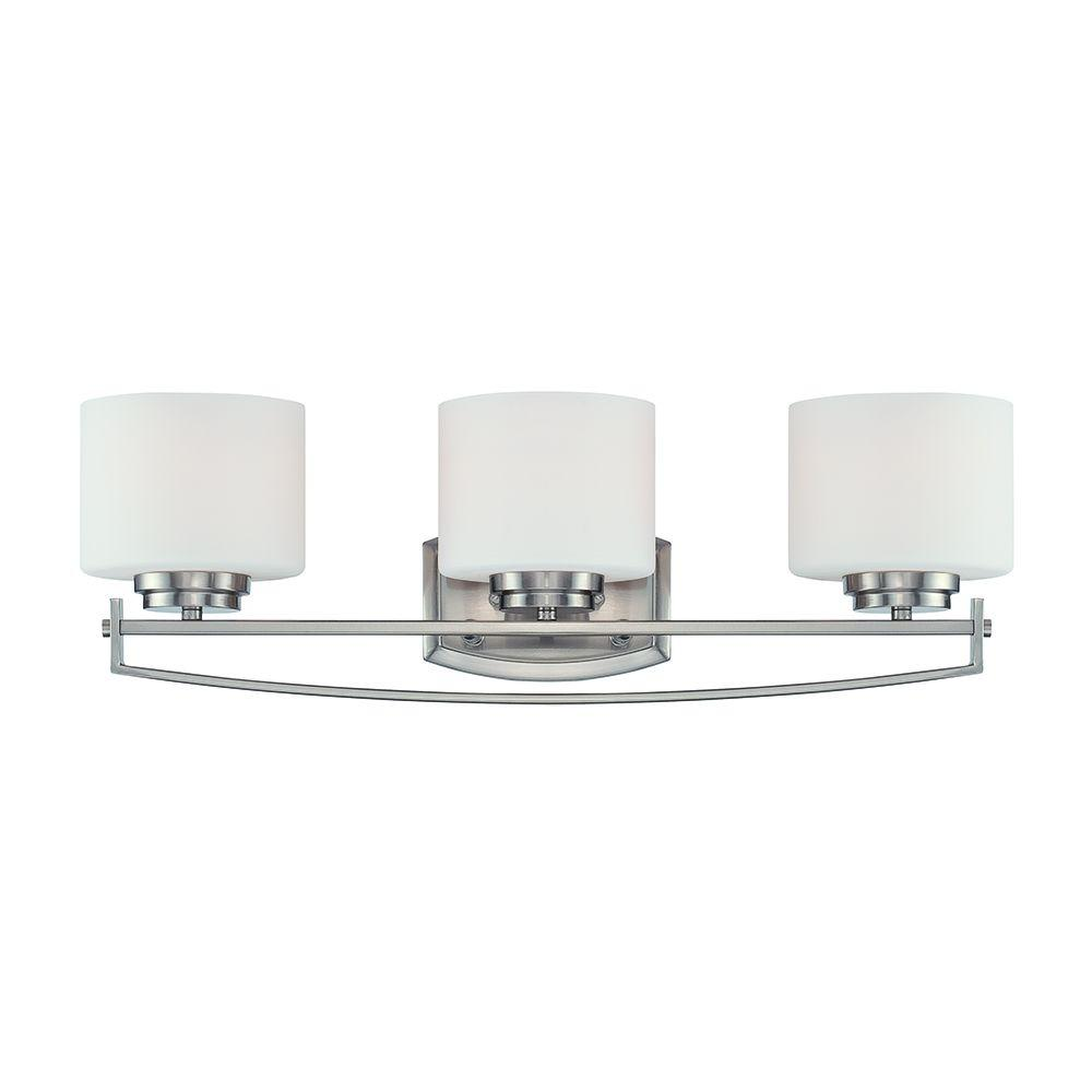 Axel 3-Light Satin Platinum Bath Bar Light
