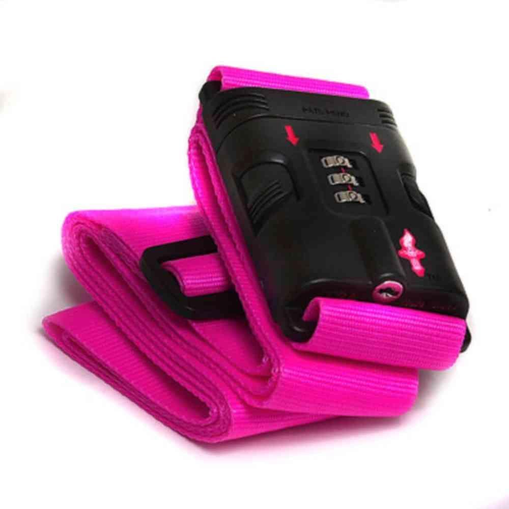 TSA-Approved Pink Luggage Strap