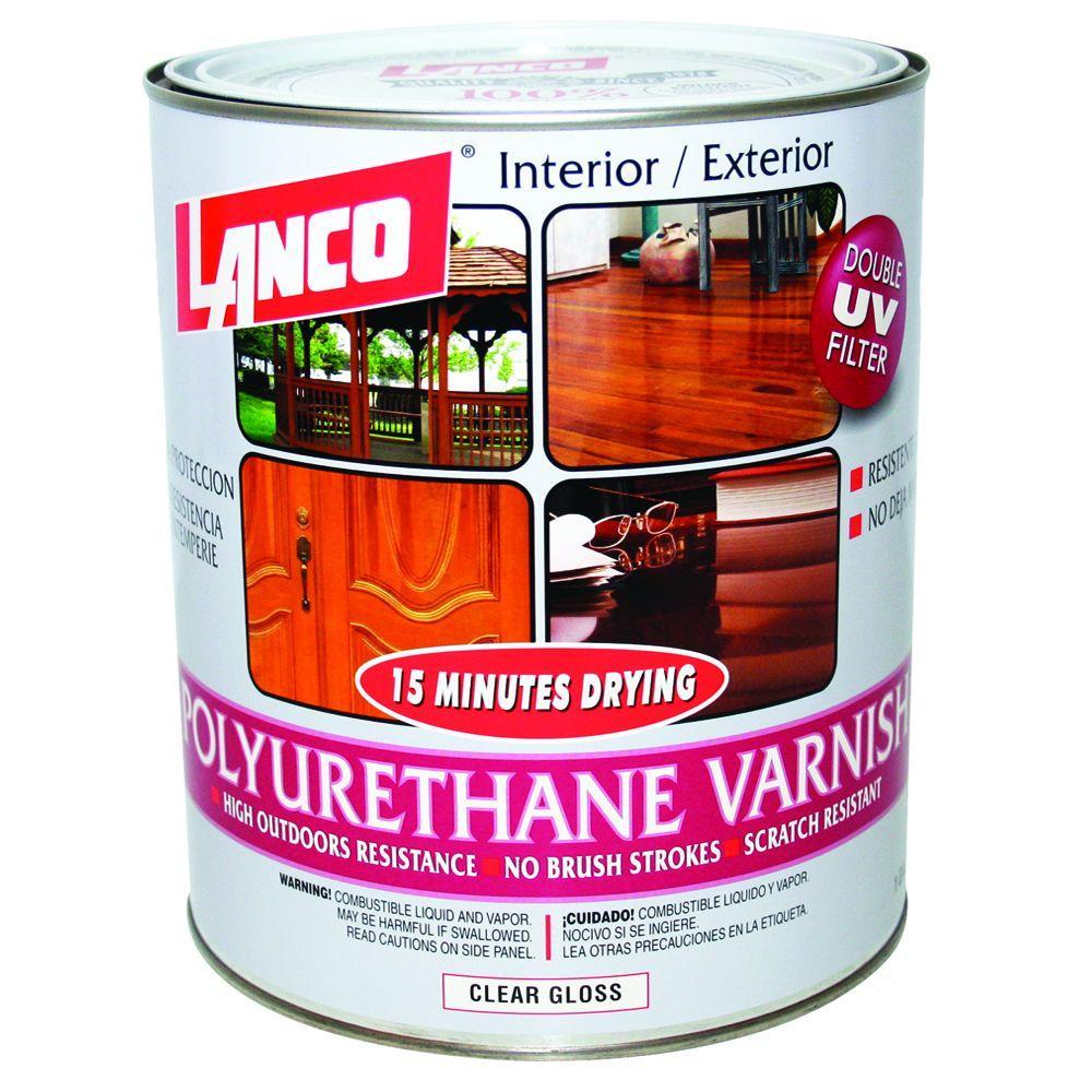 Deft 1 qt gloss interior clear wood finish brushing - Exterior polyurethane wood finish ...