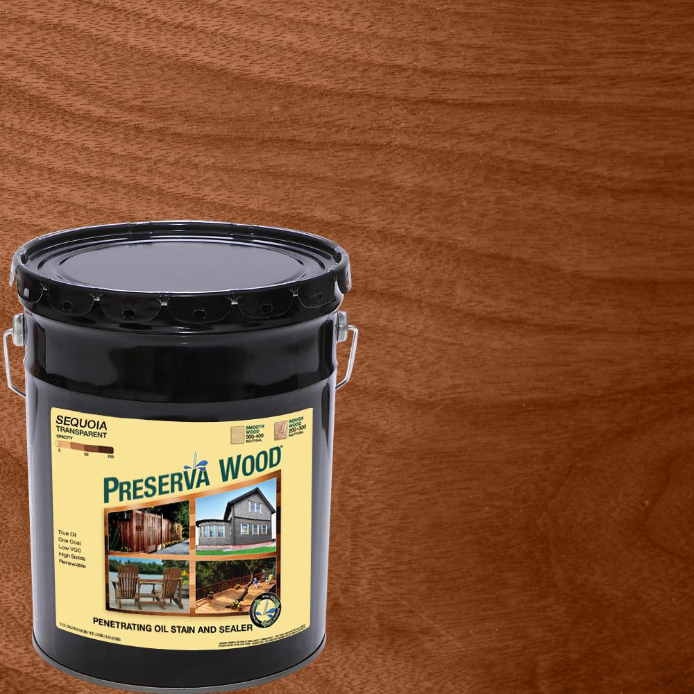 Preserva wood 5 gal sequoia oil based penetrating stain - Cedar wood preservative exterior ...