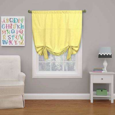 Kendall 63 in. L Lemon Polyester Rod Pocket Curtain