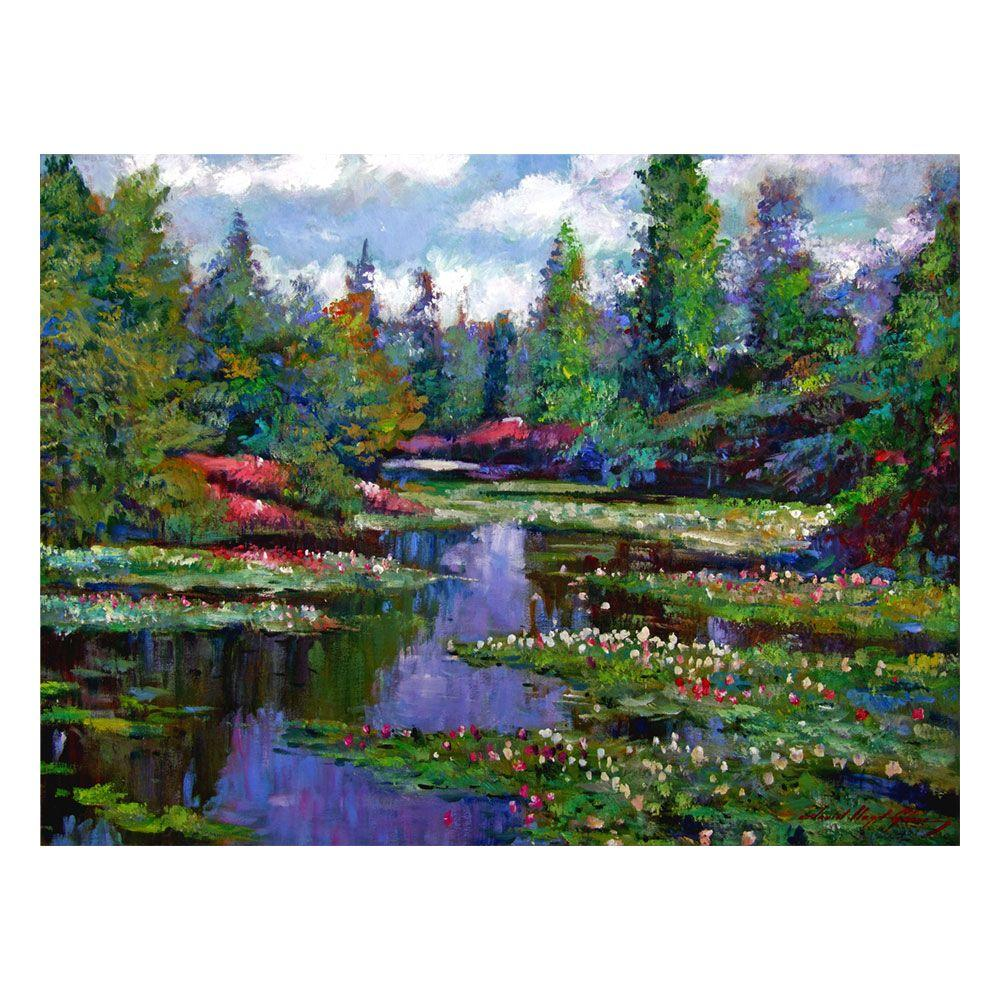 26 in. x 32 in. Waterlily Lake Reflections Canvas Art