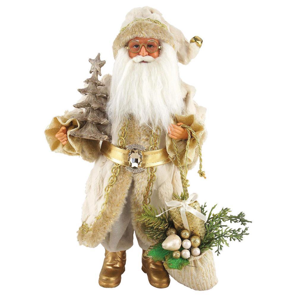 15 in. Golden Splendor Claus