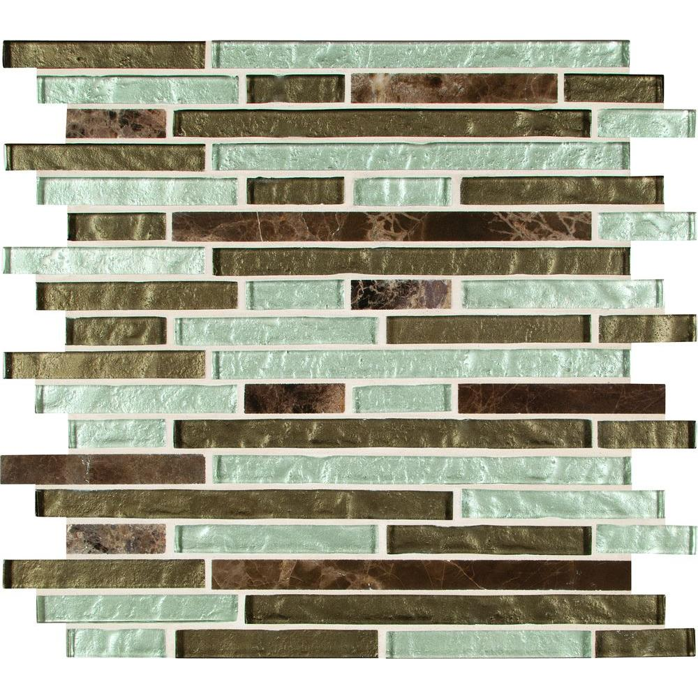 Kitchen Backsplash Tile At Home Depot: MS International Celestine Blend Interlocking 12 In. X 12