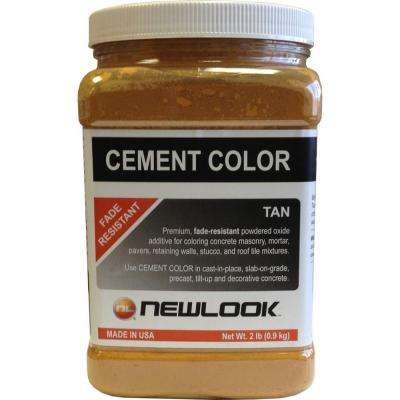 2 lb. Tan Fade Resistant Cement Color
