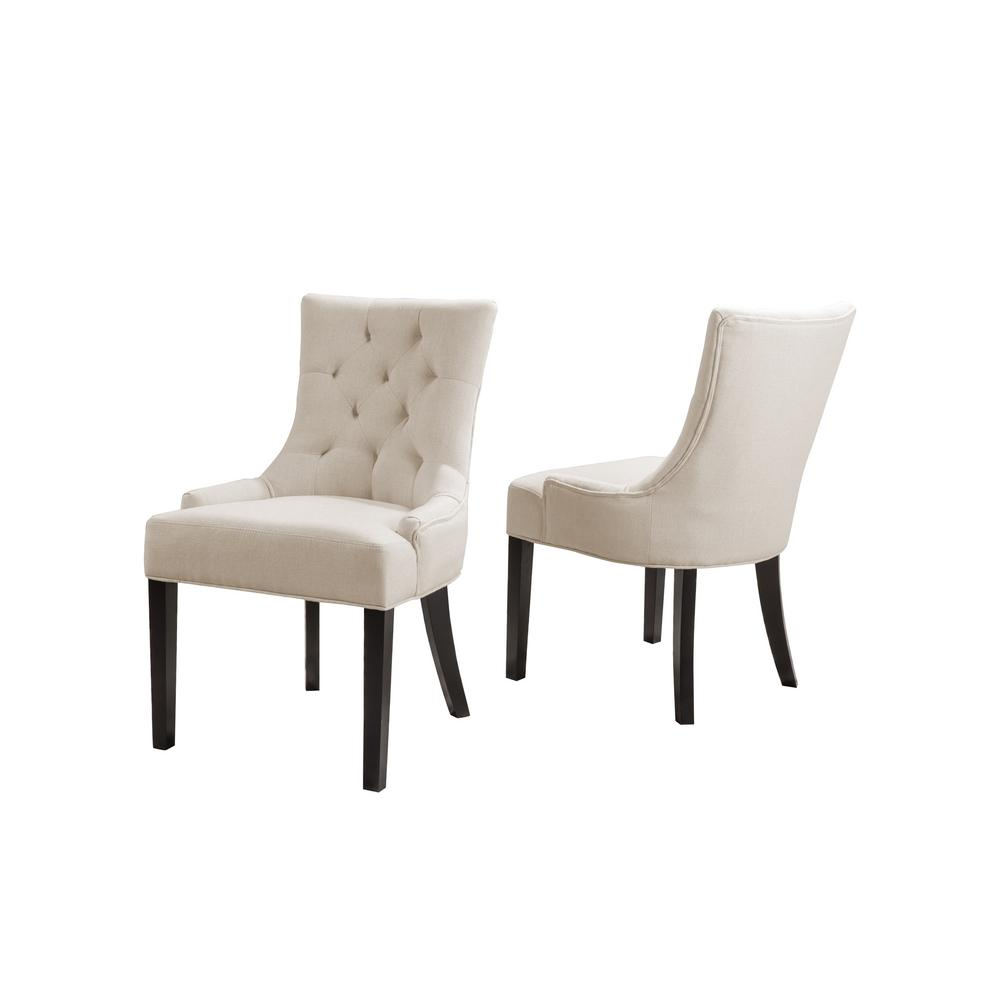 Noble House Hayden Beige Fabric Dining Chair (Set Of 2)