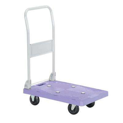 16 in. x 24 in. Plastic Platform Truck with Folding Handle