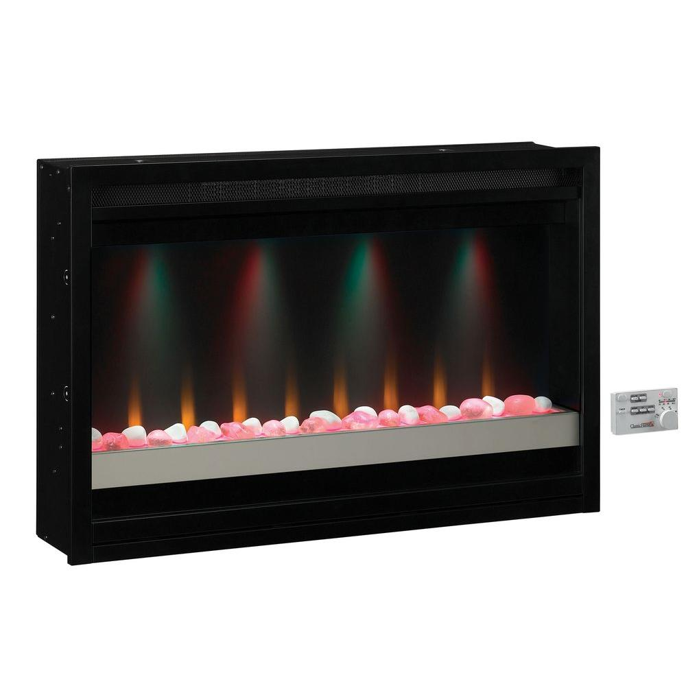 Contemporary Built In Electric Fireplace Insert