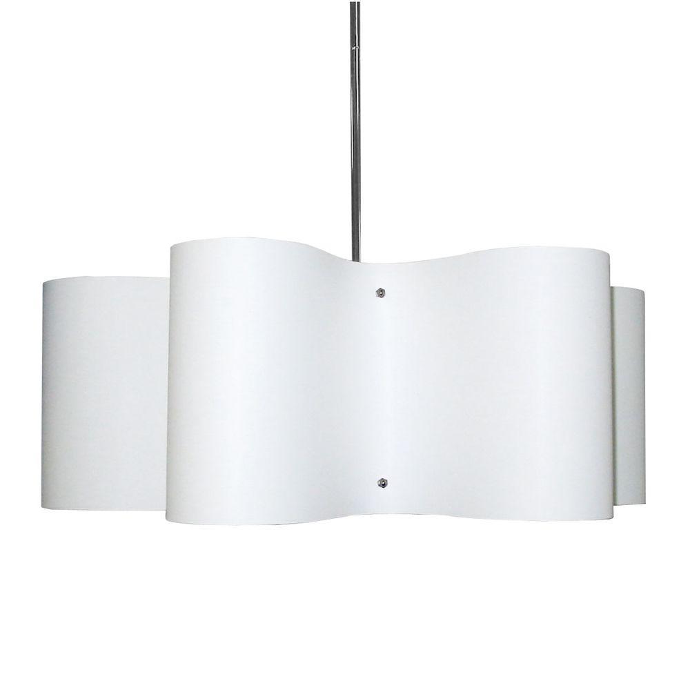 Tech Lighting Home Depot: Radionic Hi Tech Zulu 3-Light White Pendant-ZUL-243-PC-WH