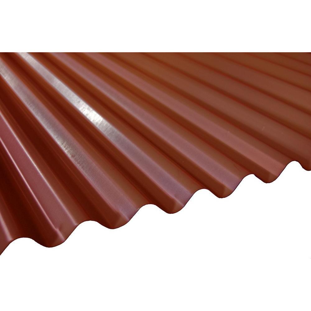 20 ft terra cotta deep corrugated steel roof panel rf dc26 tco 240