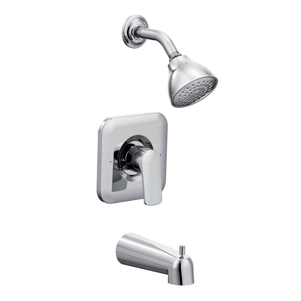 Awesome MOEN Rizon Single Handle 1 Spray Posi Temp Tub And Shower Faucet Trim