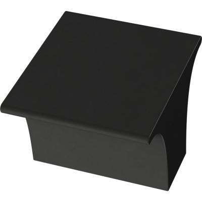 Inclination 1-1/8 in. (28 mm) Matte Black Cabinet Knob
