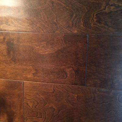 Meadow Birch 3/8 in. Thick x 5 in. W x Random Length Click Hand Scraped Engineered Hardwood Flooring (31 sq. ft. / case)