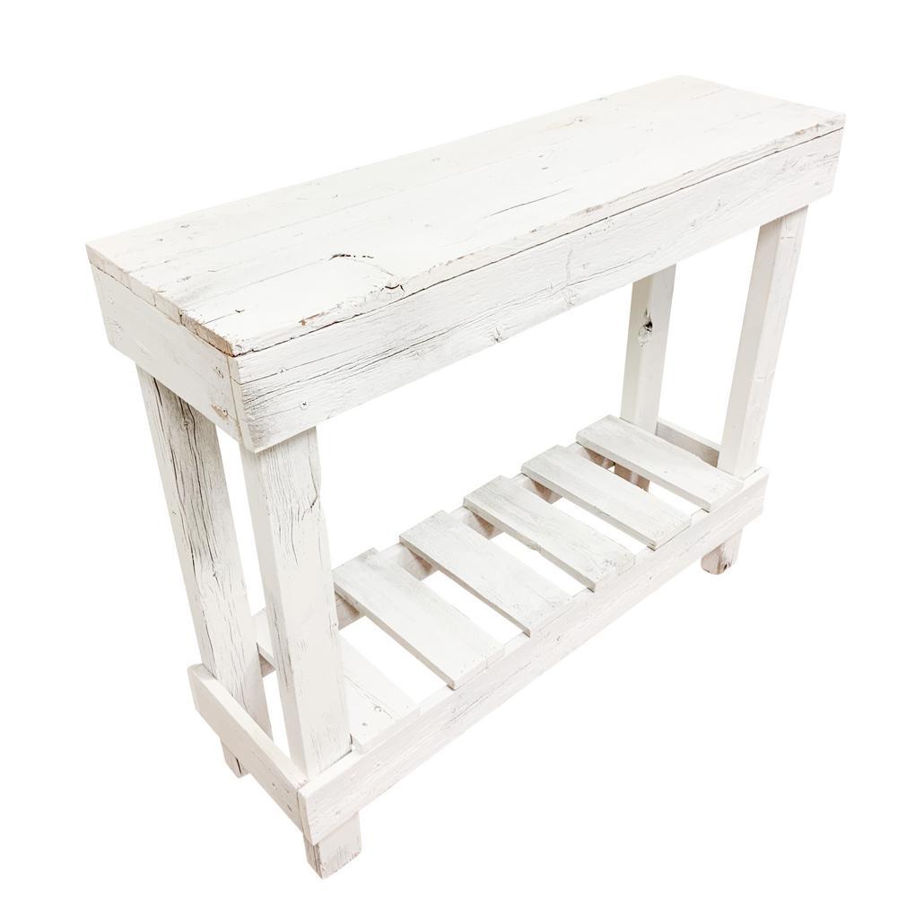 Reclaimed Barnwood White Sofa Table