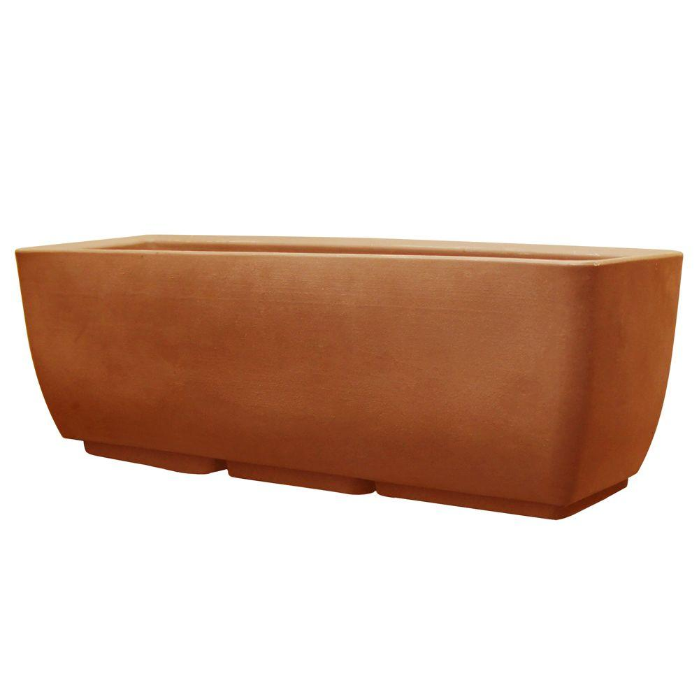 Rts Home Accents 30 In X 10 In Terra Cotta Planter 56020001005381