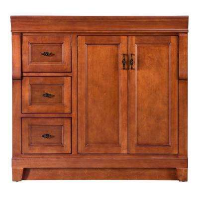 W Bath Vanity Cabinet Only In Warm Cinnamon With Left Hand Drawers