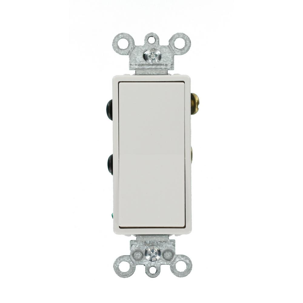 Leviton 15 Amp Decora Residential Grade 4 Way Lighted Rocker Switch White 012 05614 02w The Home Depot