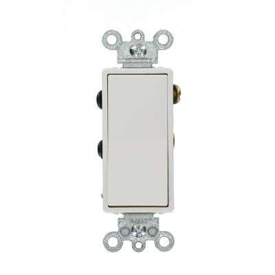 15 Amp Decora Residential Grade 4-Way Lighted Rocker Switch, White