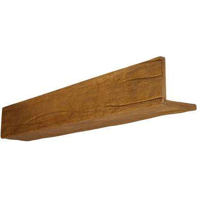 6 in. x 10 in. x 18 ft. 2-Sided (L-Beam) Riverwood Puritan Pine Faux Wood Beam