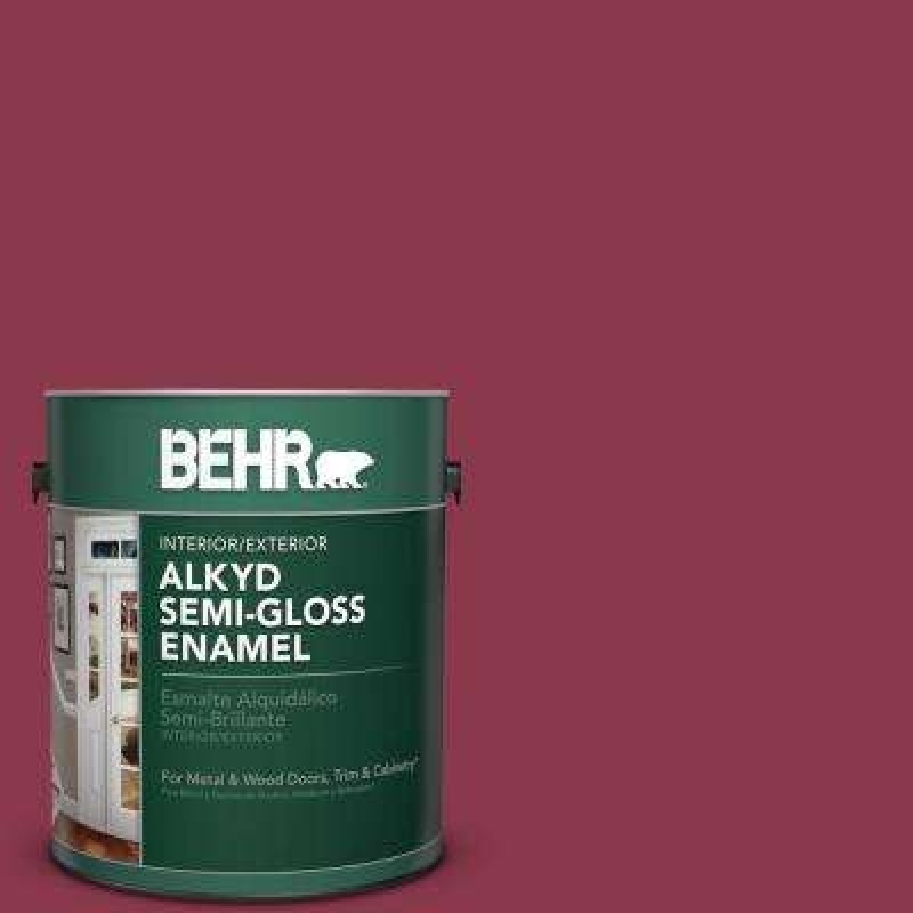 1 gal. #PPU1-12 Bolero Semi-Gloss Enamel Alkyd Interior/Exterior Paint