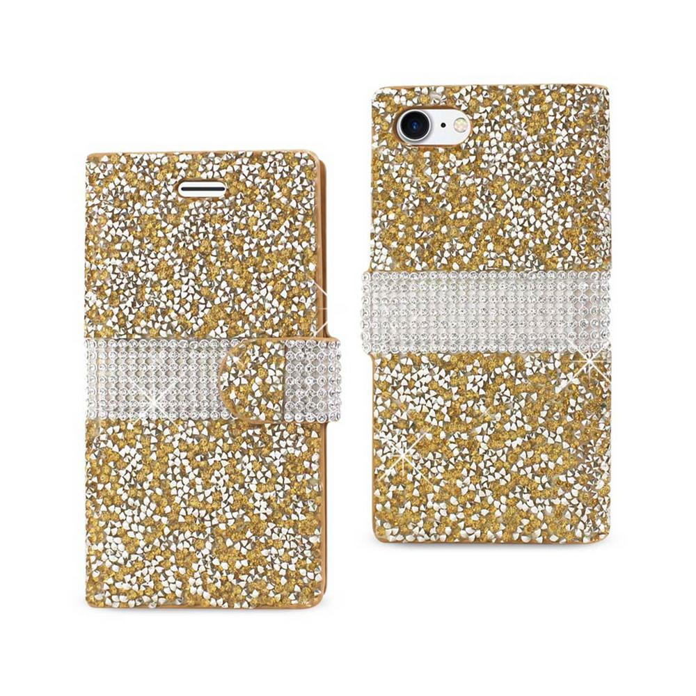 iPhone 7 Rhinestone Case in Gold