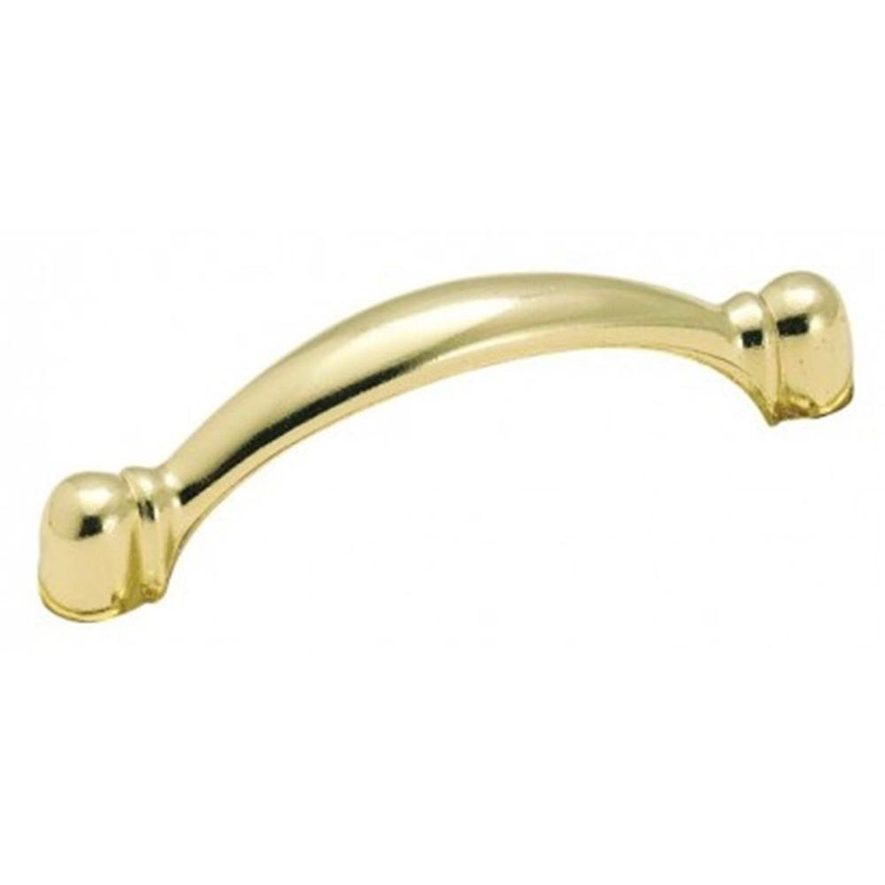 Amerock Harmony 3 in. Polished Brass Pull