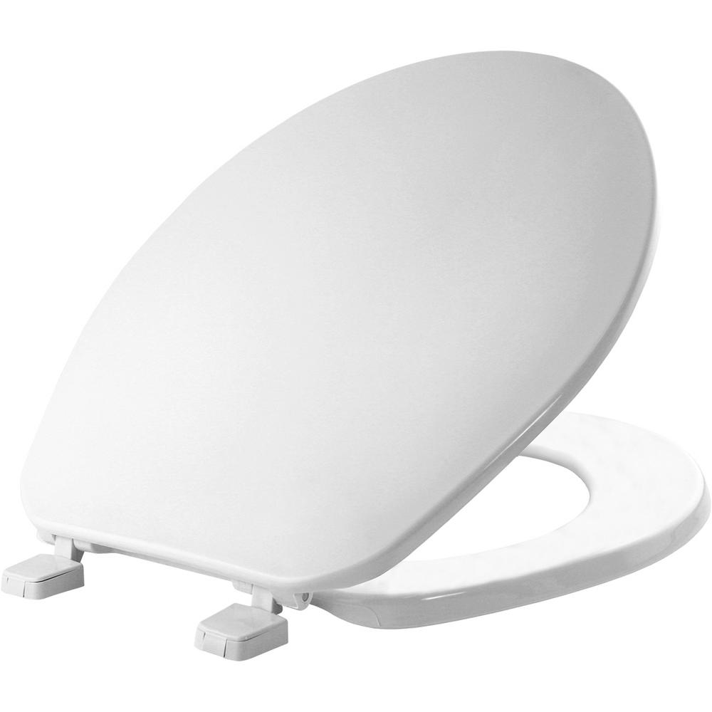 Glacier Bay Round Closed Front Toilet Seat in White-70 000