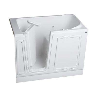 Acrylic Standard Series 51 in. x 30 in. Walk-In Whirlpool and Air Bath Tub in White
