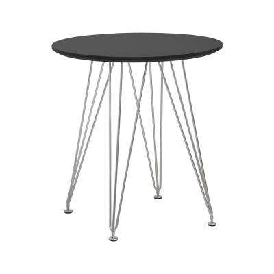 Paris Tower Black Round Accent Dining Table