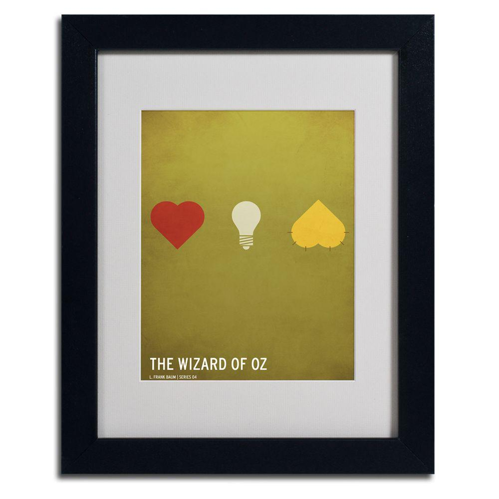 Trademark Fine Art 11 In X 14 In Wizard Of Oz Matted Framed Art