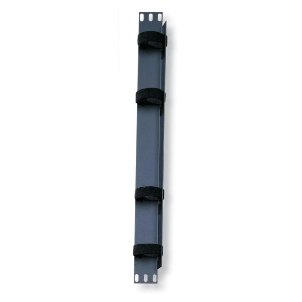 Cable Management Solutions Recloseable Cable Bar, Black