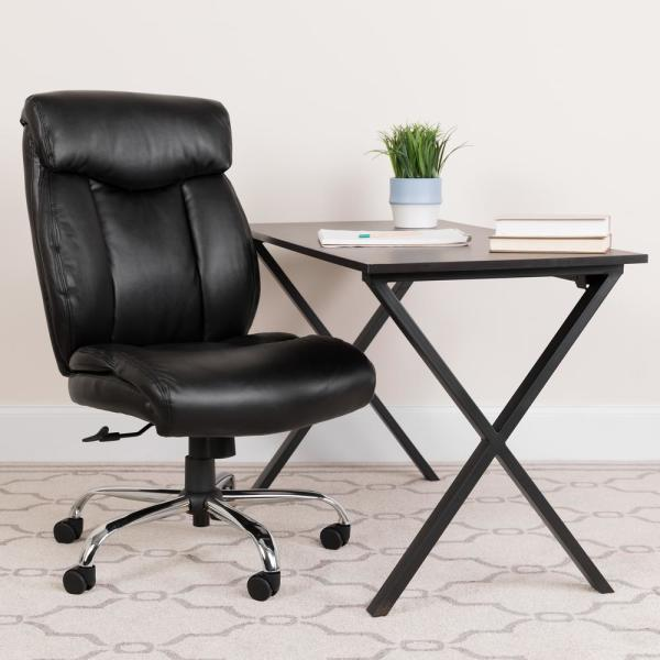 Flash Furniture Black Leather Office/Desk Chair GO1235BKLEA