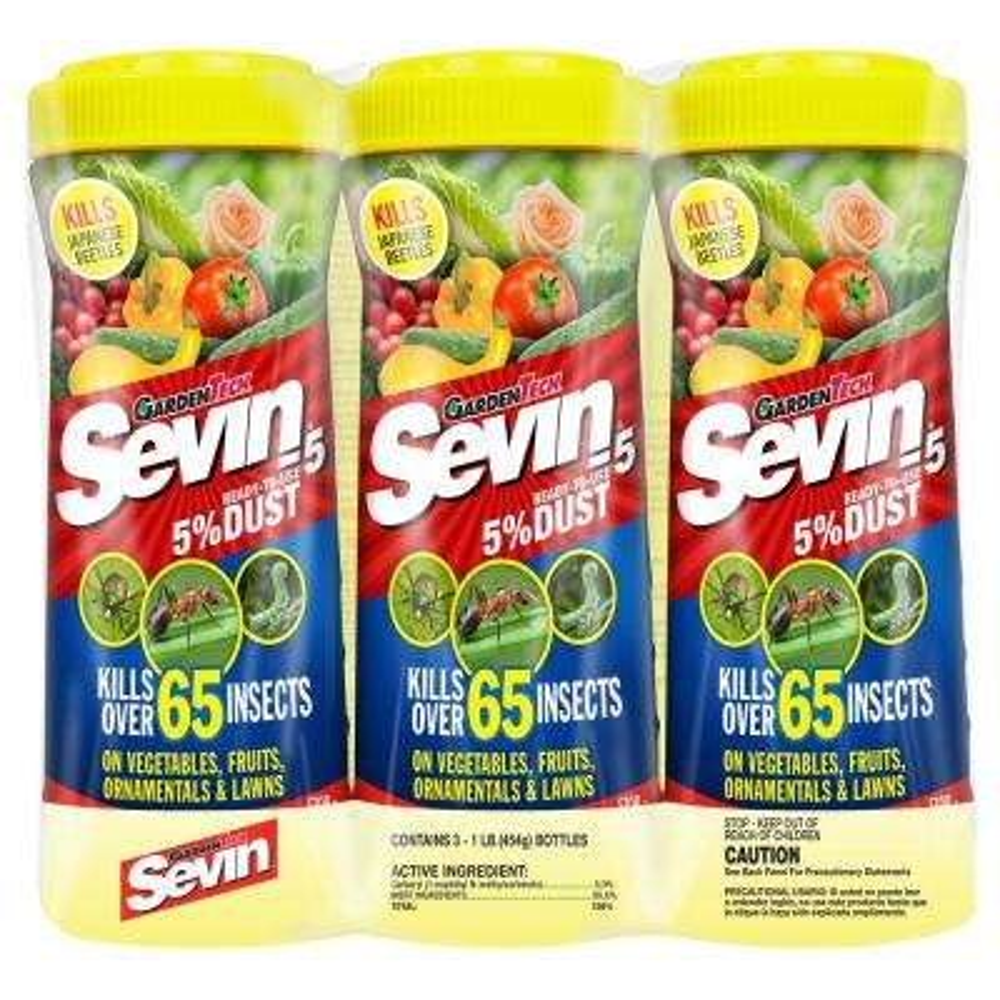1 lb. Ready-to-Use 5% Dust Garden Insect Killer Shaker Bottle (3-Pack)