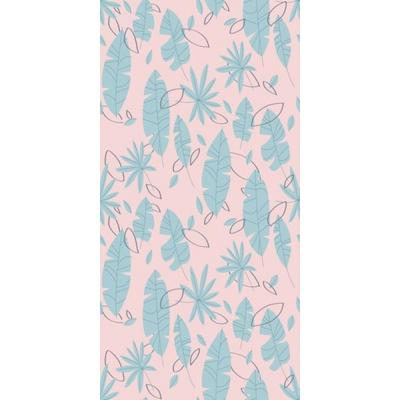 Flat Palms Blue by Circle Art Group Removable Wallpaper Panel