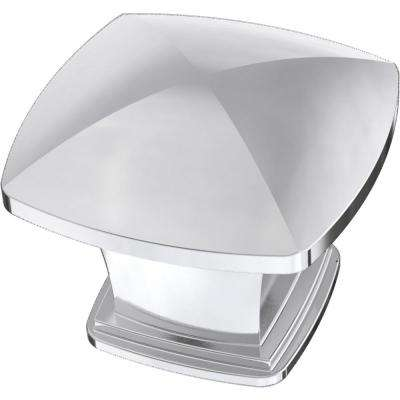 Essentials 1-1/4 in. (31 mm) Chrome Plated Square Cabinet Knob (12-Pack)