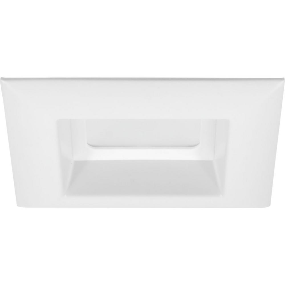 Retrofit Square Collection 4 in. White Integrated LED Recessed Trim