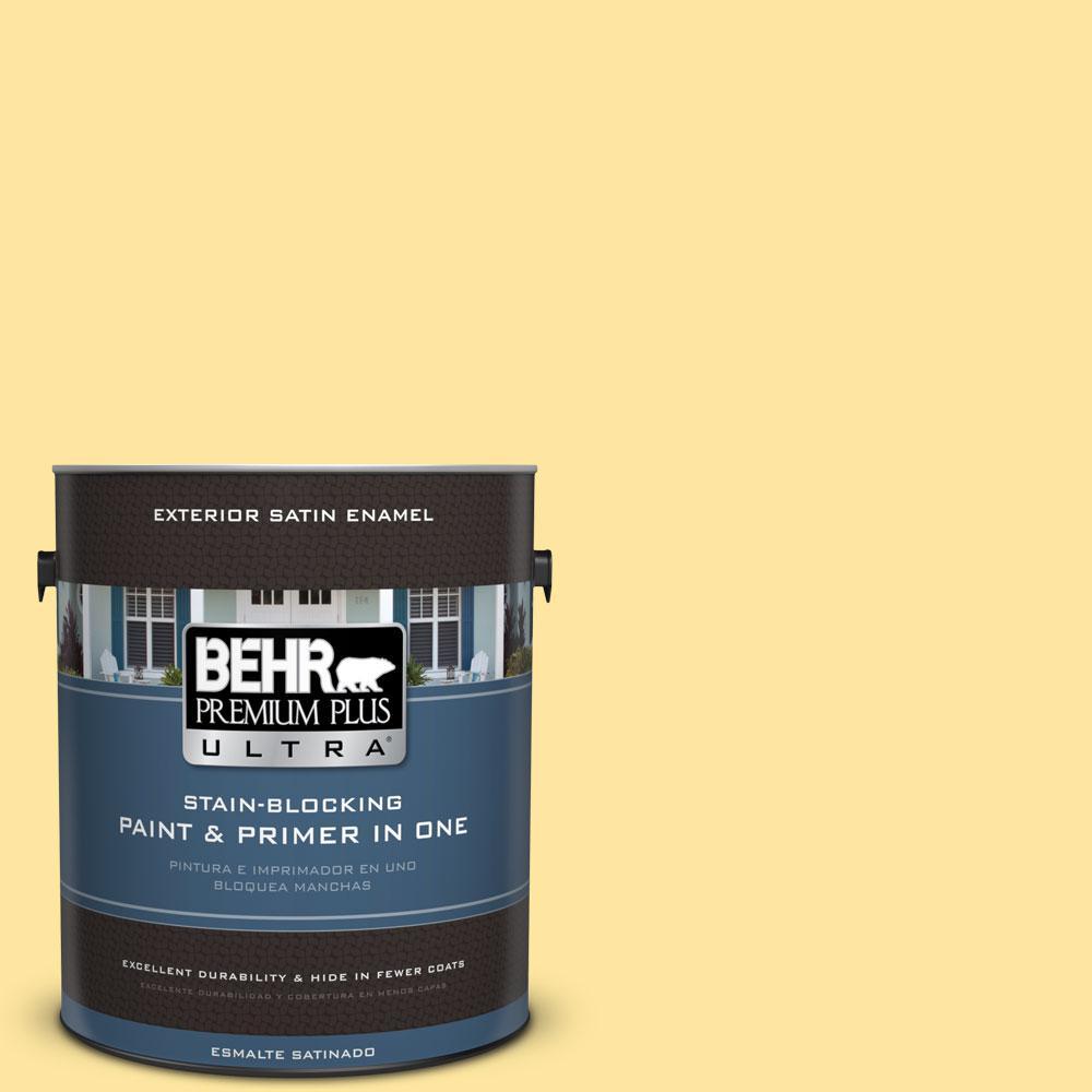BEHR Premium Plus Ultra 1-gal. #PMD-10 Equator Glow Satin Enamel Exterior Paint