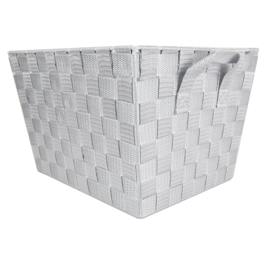 Home Basics Decorative Storage Basket, Cool Grey was $11.01 now $7.16 (35.0% off)