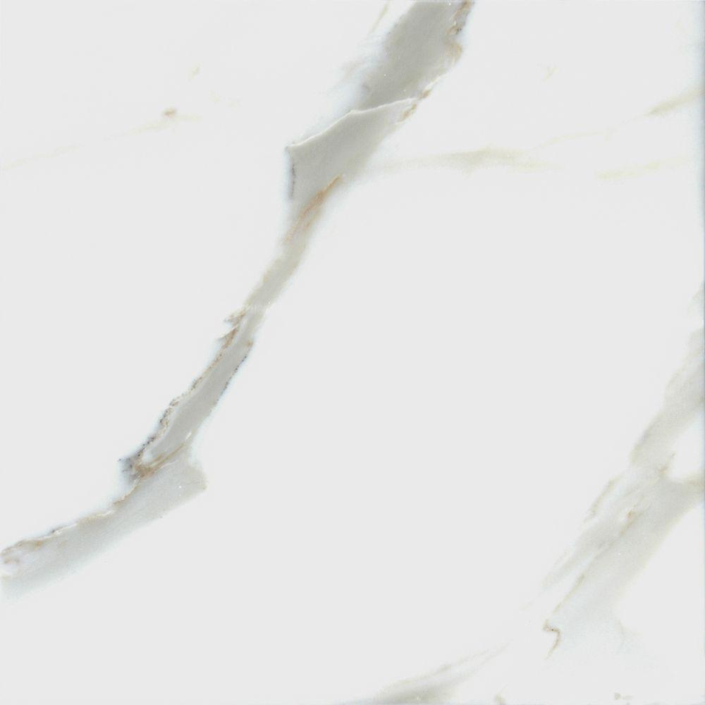 MSI Calacatta Gold 12 in. x 12 in. Polished Marble Floor and Wall Tile (10 sq. ft. / case)