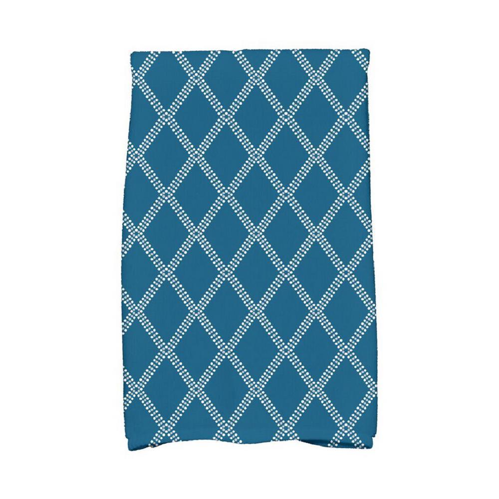 16 X 11 Sweat Towel: 16 In. X 25 In. Teal Diamond Dots Holiday Geometric Print