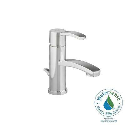 Berwick Monoblock Single Hole Single Handle Low-Arc Bathroom Faucet with Speed Connect Drain in Brushed Nickel